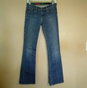 AG The Angel Bootcut Medium Wash Blue Jeans